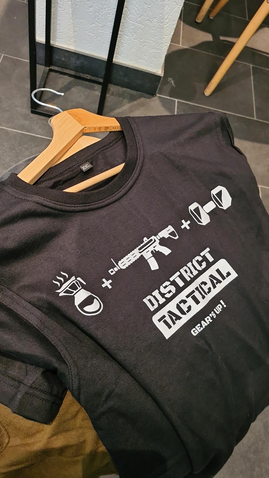 """T-shirt """"District Tactical"""" noir & blanc"""