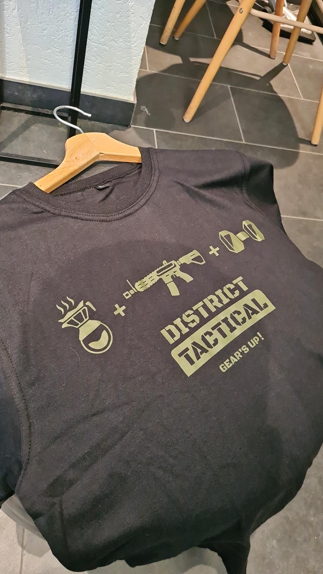"""T-shirt """"District Tactical"""" noir & vert"""