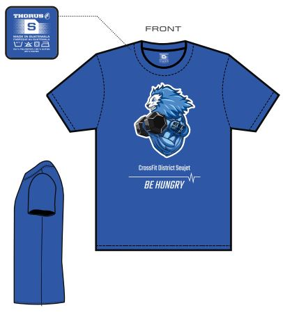 T-shirt District homme (Bleu)