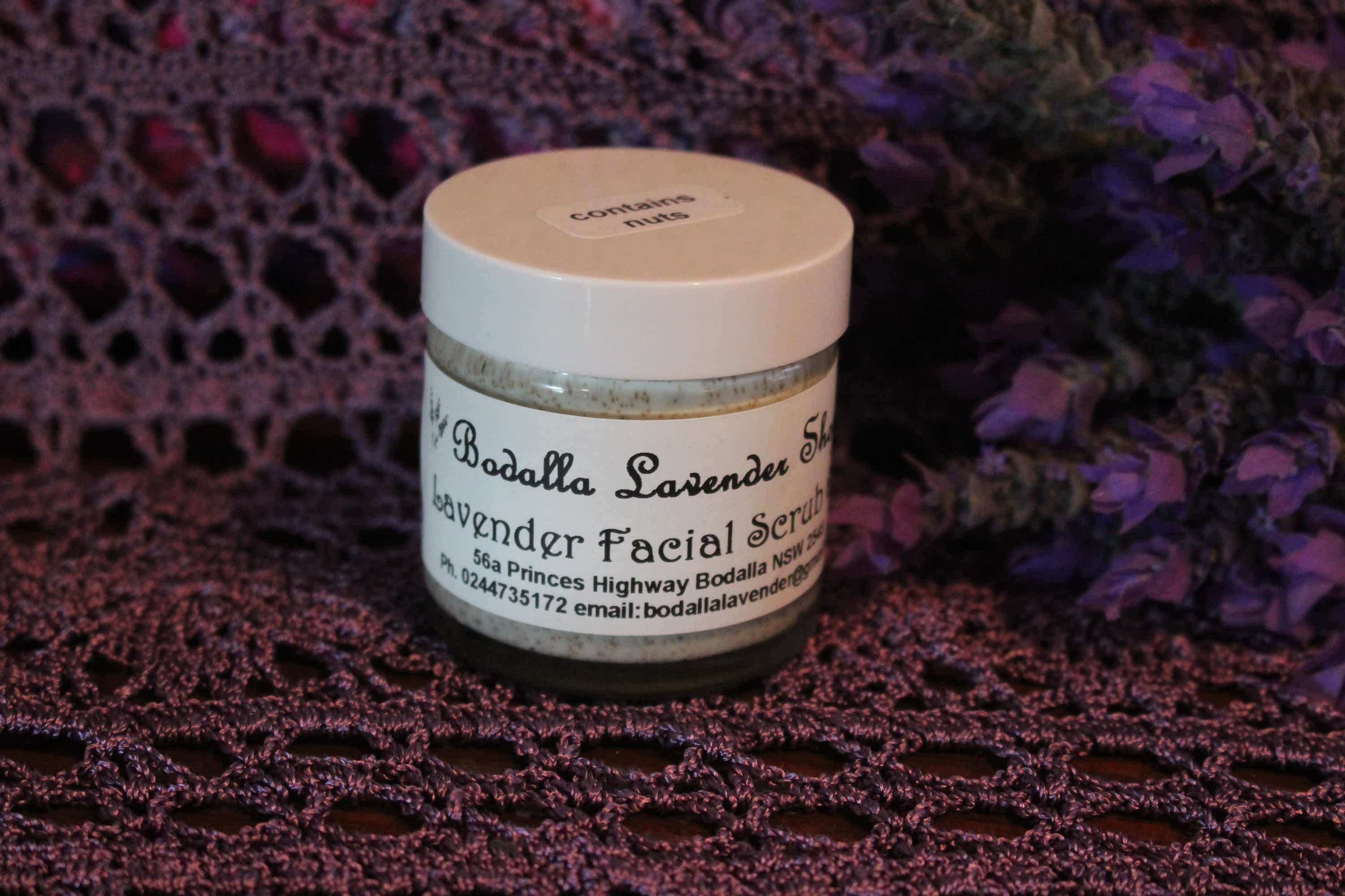 Photograph of an Lavender Facial Scrub  product