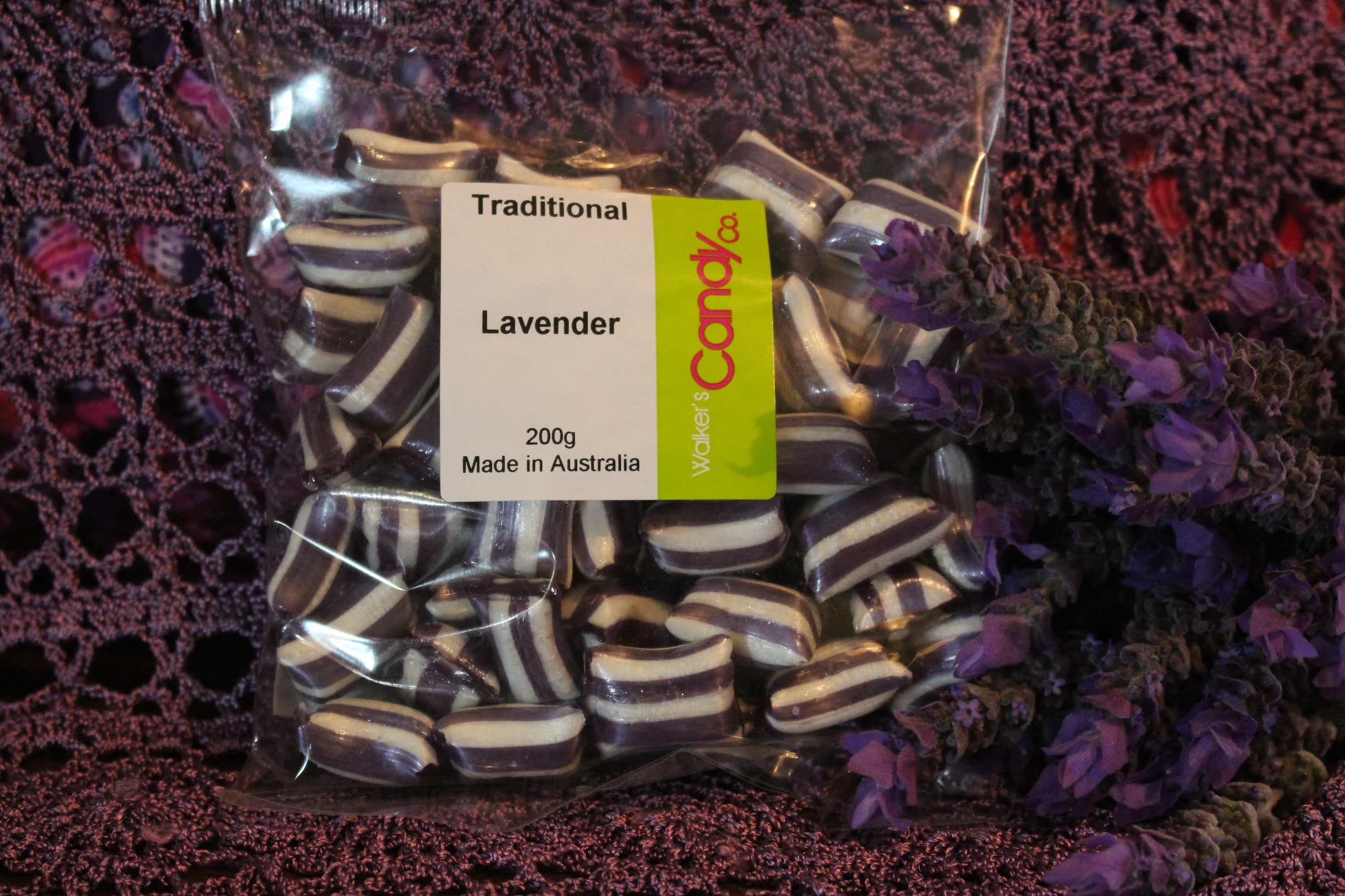 Photograph of an Lavender Boiled Lollies 200g product