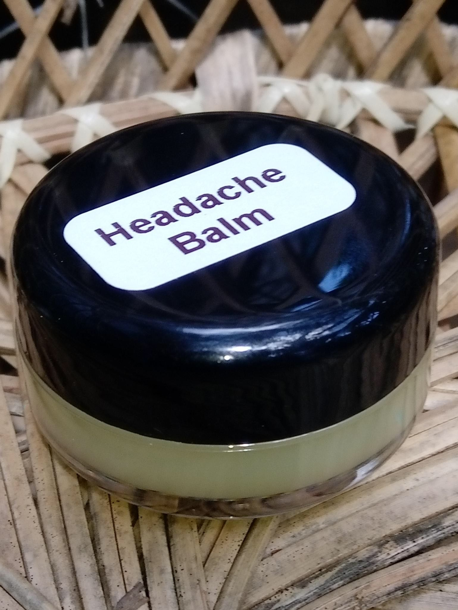 Photograph of an Headache Balm product
